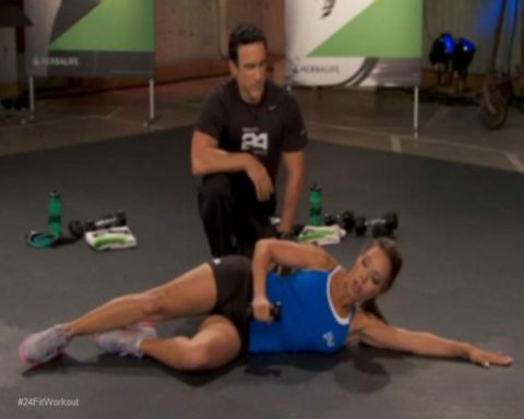 "Shoulder External Rotation Exercise"" from Phase 1 of the 24Fit Workout"